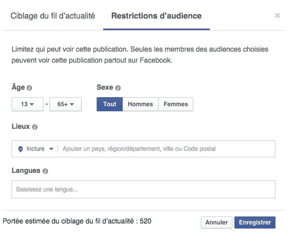 Outils Facebook 2