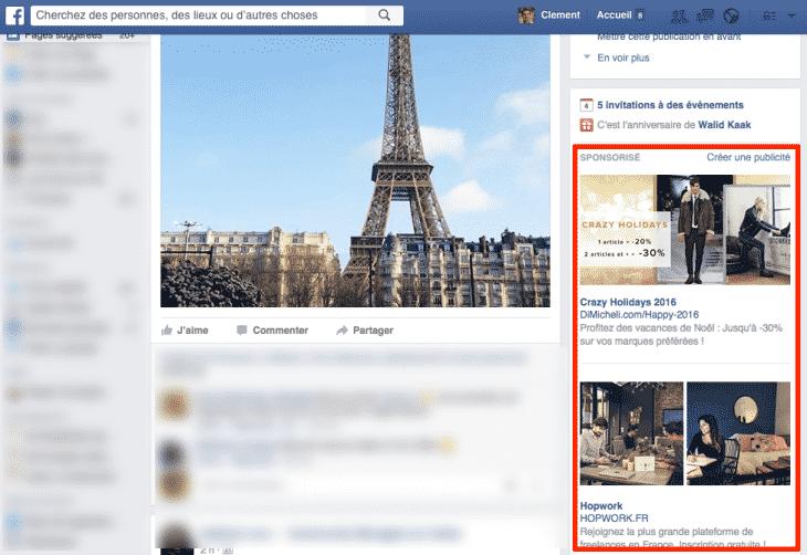 Publicite Facebook