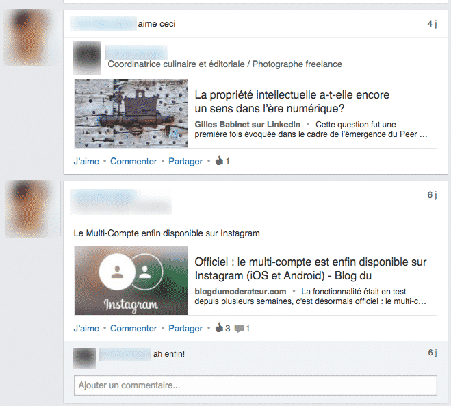 Activite LinkedIn