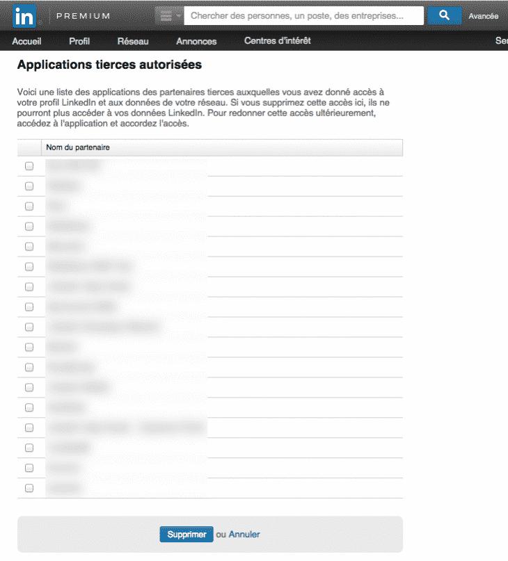 Applications Tierces Linkedin