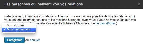 Voir Relations LinkedIn