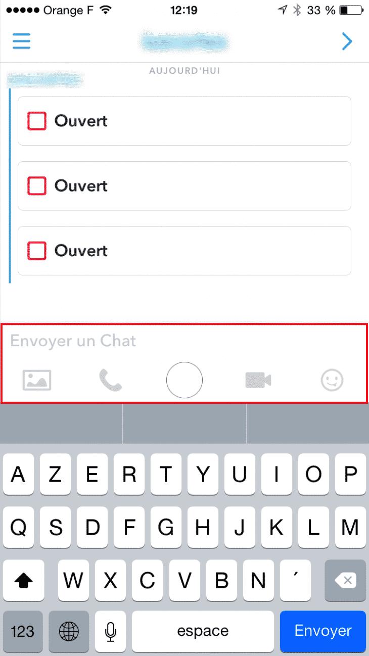 Chat Snapchat
