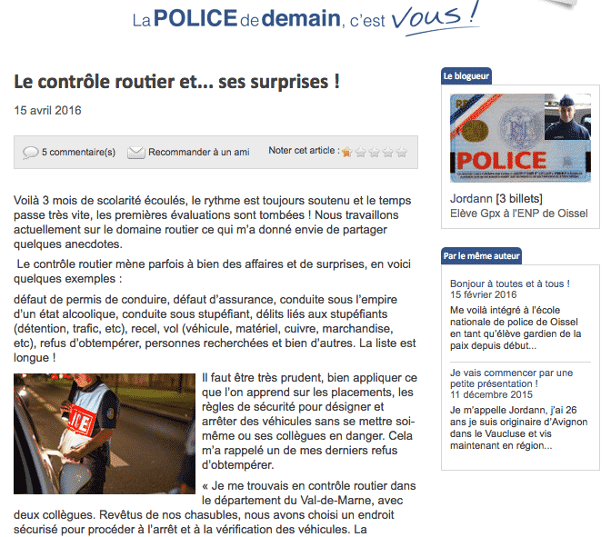 Police Nationale Recrute