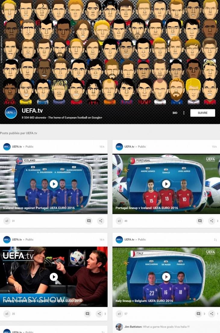 Google Plus Euro 2016