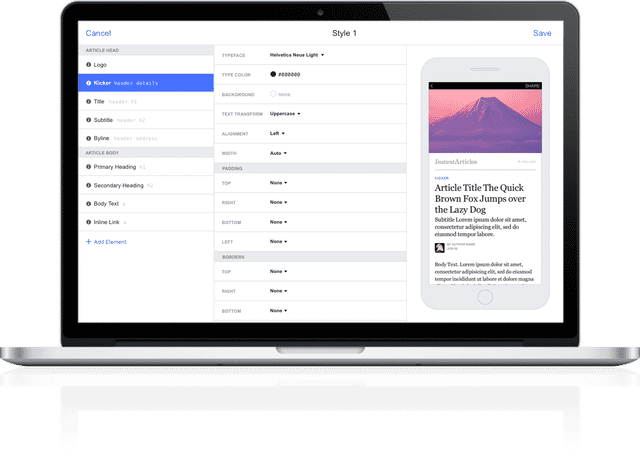 Instant Articles Editor