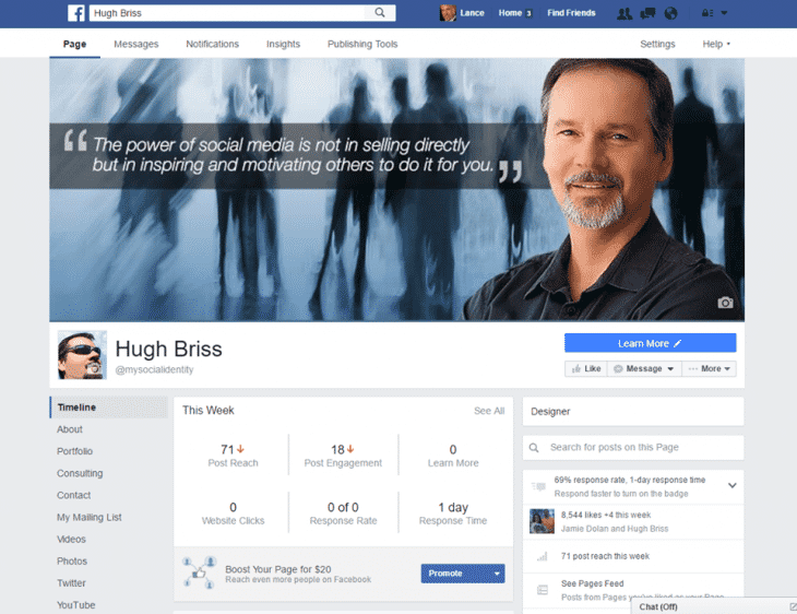 Nouveau design Facebook