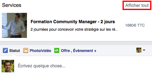Services Facebook Encadre Rouge