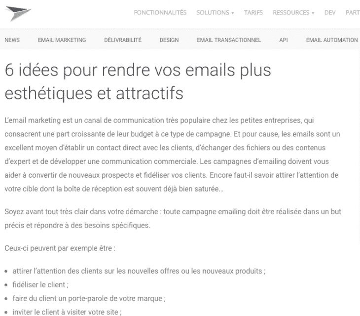 Mailjet Emails Attractifs