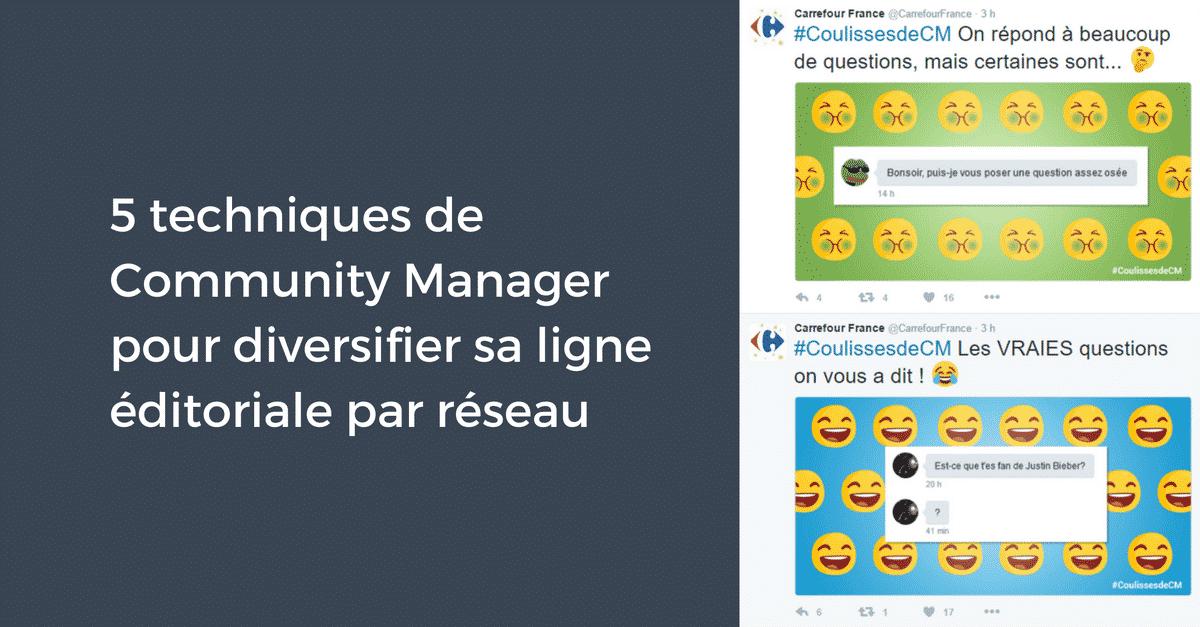 5 techniques de Community Manager pour diversifier sa ligne éditoriale par réseau | Pellerin Formation