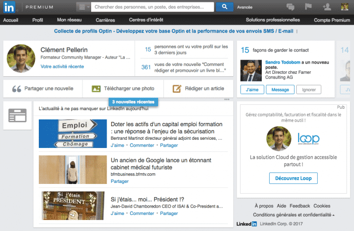 Ancienne Version Linkedin