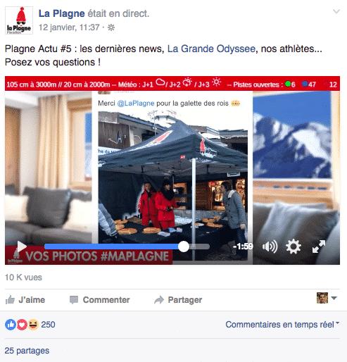 La Plagne Facebook Live 2