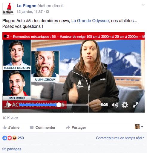 La Plagne Facebook Live