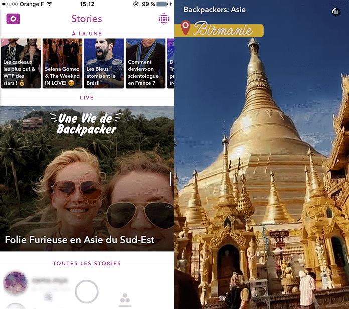 Notre Story Snapchat