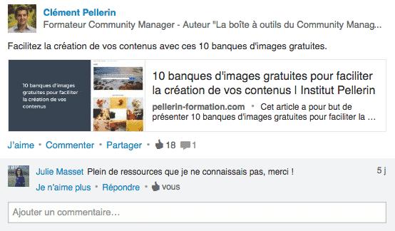 Exemple Publication LinkedIn