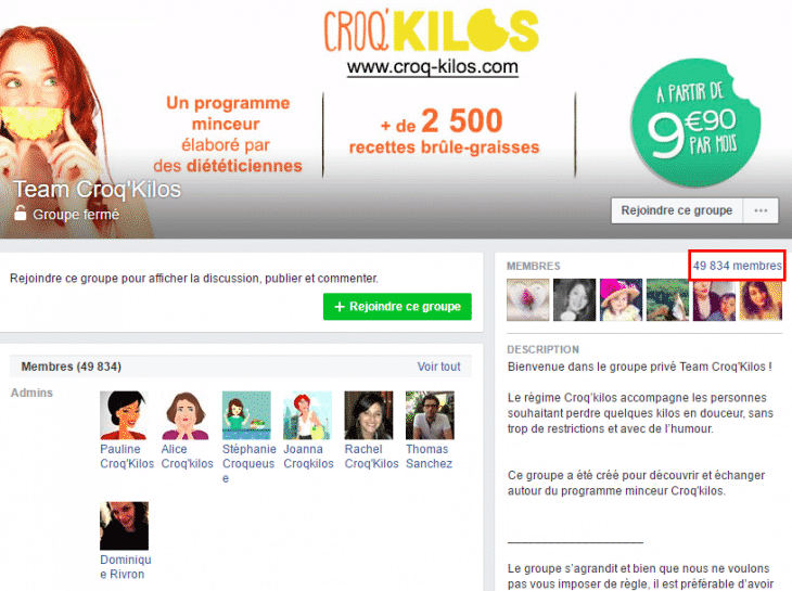 Groupe Facebook Croqkilos