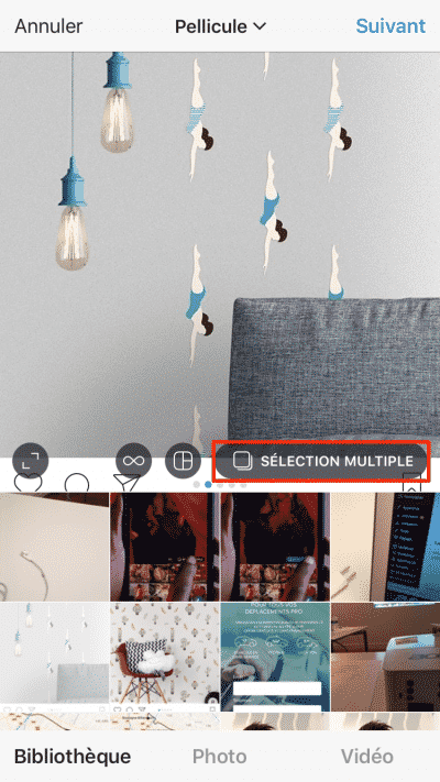 Selection Multiple Instagram