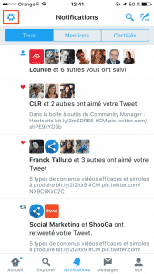 Filtres Notifications Twitter