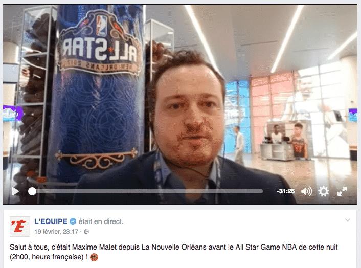 Live Lequipe Facebook Allstar Game