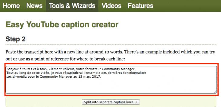 Script Youtube Encadrer