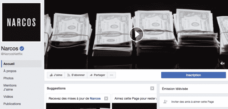 Bandeau de couverture video Facebook