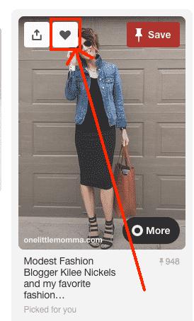 Bouton Like Pinterest