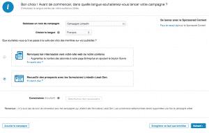 Campagnes Publicitaires LinkedIn Lead Gen Forms