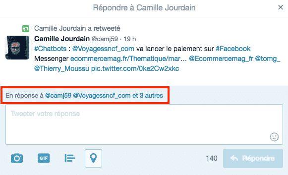 Comptabilisation Caracteres Twitter Reponses