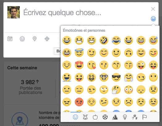 Liste Emojis Facebook