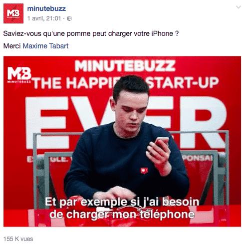 Maxime Tabard MinuteBuzz
