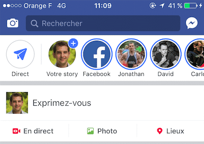 Stories Facebook Mobile