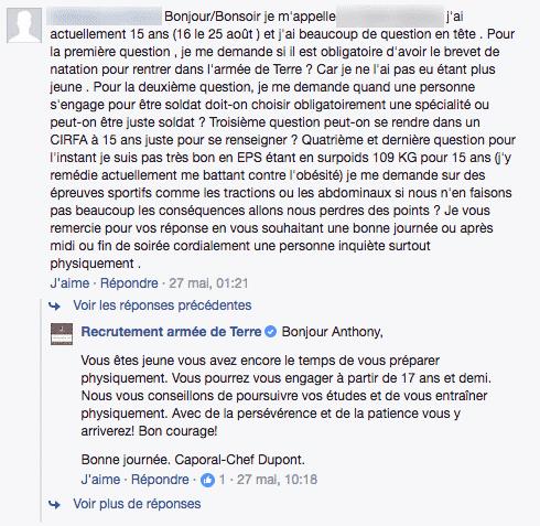 Armee de Terre Facebook