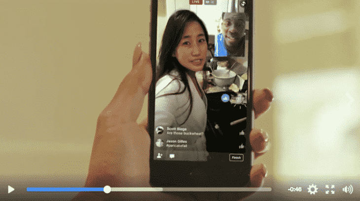 Contacts sur une live video Facebook