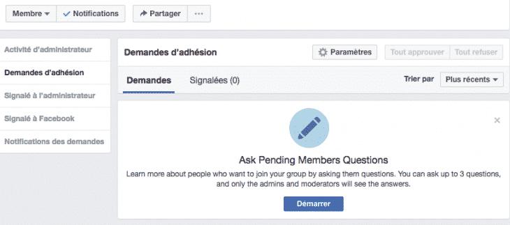 Questionnaire Groupe Facebook 1