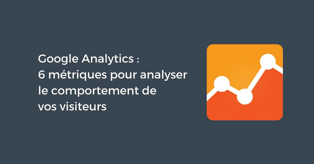 Comportement des visiteurs Google Analytics