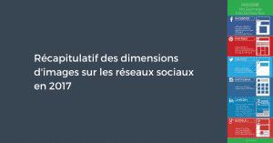 Récapitulatif des dimensions d'images sur les réseaux sociaux en 2017