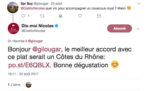 Dis Moi Nicolas Conseil Client