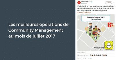 Operations Juillet 2017