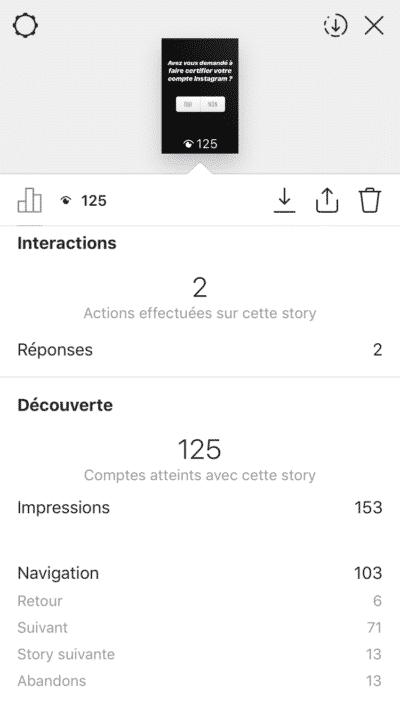 """Résultat de recherche d'images pour """"statistiques story instagram"""""""