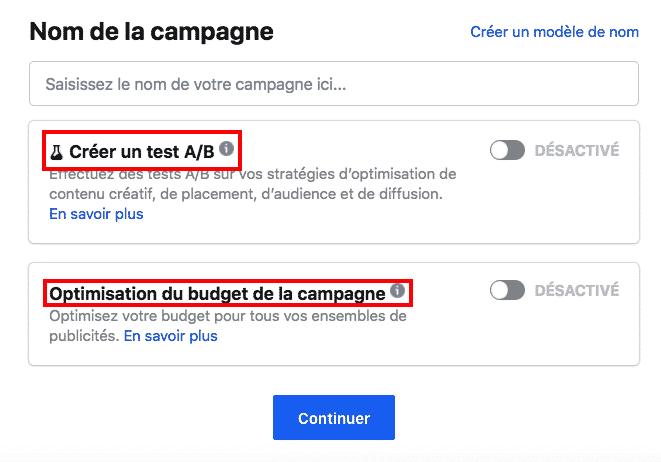 Comment choisir entre le test A/B et l'optimisation du budget d'une campagne Facebook ?